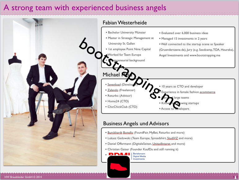Team - Team von Wunsch-Brautkleid.de - bootstrapping.me