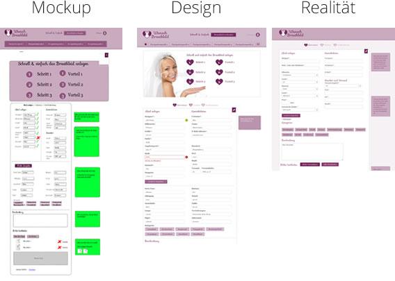 Mockup vs. Design vs. Realität